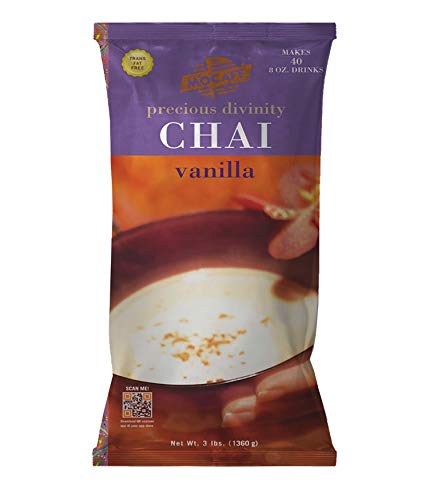 MOCAFE Precious Divinity Vanilla Chai Spiced Tea Mix, 3-Pound Bag Instant Frappe Mix, Coffee House Style Blended Drink Used in Coffee Shops (Iced Chai Tea Latte Recipe With Tea Bag)