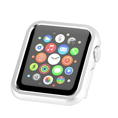 - Apple Watch Case 38mm, Compatible with iWatch Face Plate Cover Protective Frame Compatible with Apple Watch Series 3/2/1 (Silver)