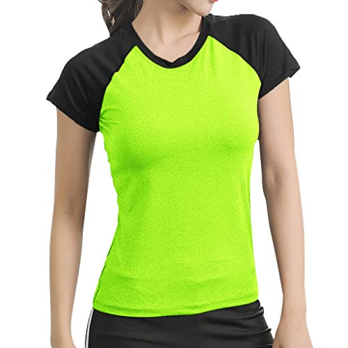 Aniywn Women's Short Sleeve Yoga Tops Activewear Running Workout T-Shirt Athletic Blouse Tunic Shirt - Applique Athletic Hat