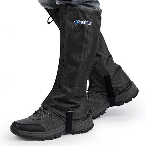 OUTAD Waterproof Outdoor Hiking Walking Climbing Hunting Snow Legging Gaiters(1 Pair) (Black, L: 16.9 x 17.3 x 15.7)