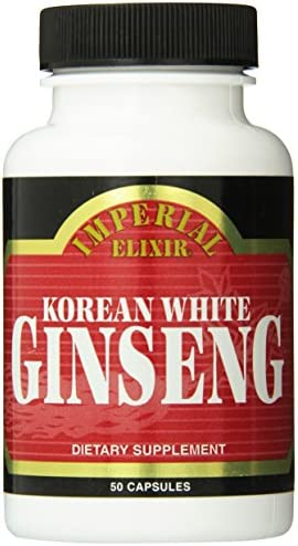 Imperial Elixir Korean White Ginseng, 500 Mg, 50 Count