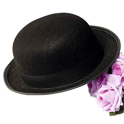 Konvinit Deluxe Bowler ChaplinFelt Hat Costume Classic Costume Accessory -