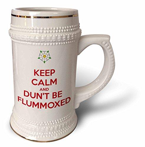 3dRose Taiche - Tee Shirt - Keep Calm And Carry On - Keep Calm and Dunt Be Flummoxed - 22oz Stein Mug (Baffled Tee)
