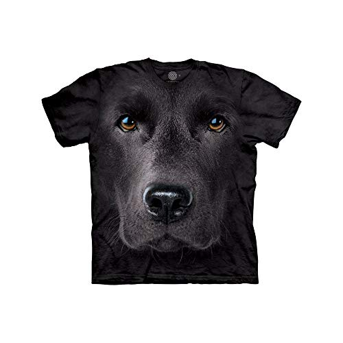 Animal Adult Black T-shirt - The Mountain Black Lab Face Adult T-Shirt, Black, 2XL