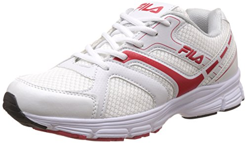 Grey and Red Running Shoes