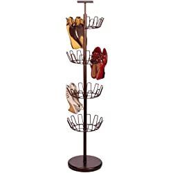 Honey-Can-Do SHO-02221 Shoe Tree with Spinning Handle, Bronze, 4-Tier