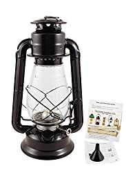 Hurricane Lantern - Black Galvanized Steel 12\
