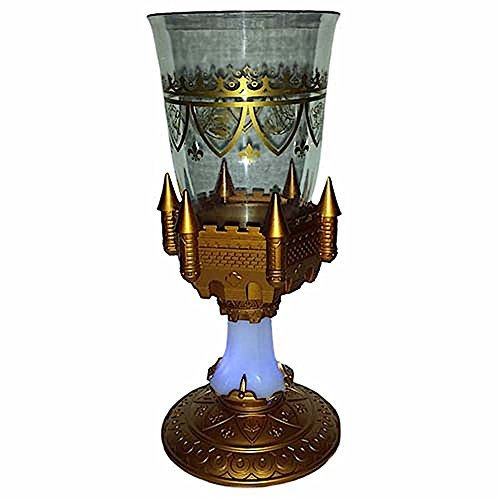 Disney Parks Beauty and the Beast Light Up Castle Goblet Mug Tumbler Cup Be Our Guest