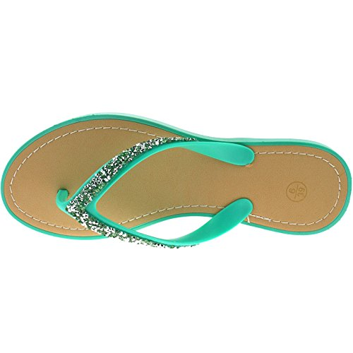 EU Flip 39 UK Nude UK Flops Ladies 3 8 Sandals 6 LP3835 Green Green Summer Casual Black Size tTnqg6a