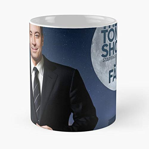 - The Tonight Show Starring Jimmy Fallon Tv - Coffee Mug-11 Oz,white Unique Birthday Gift-the Best Gift For Holidays.