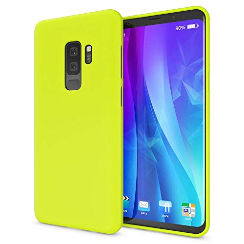 NALIA Case Compatible with Samsung Galaxy S9 Plus, Phone Cover Ultra-Thin Neon Silicone Back Protector Rubber Soft Skin, Protective Shockproof Slim Gel Bumper Smartphone Back-Case, Color:Yellow