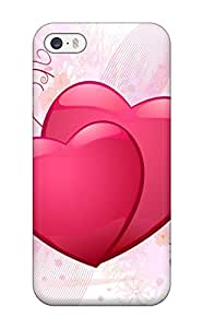 Daniel Lee Iphone 5/5s Hybrid Tpu Case Cover Silicon Bumper Couple Of Hearts Wide