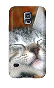 7519836K30347459 Awesome Design Magical Sleeping Kitty Hard Case Cover For Galaxy S5