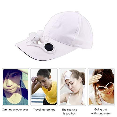 (Waroomblue Solar Energy Belt Fan Baseball Golf Hat Storage Belt Switch Fan Cap Sun hat Peaked Solar Panel on Cap)