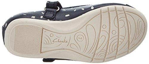 Clarks Dance Mad Inf, Bailarinas para Niñas Azul (Navy Multi Lea)