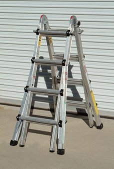 17 Foot Type 1A Multi-task Ladder 23 Configurations; Super Strong Aircraft Grade Aluminum Supports up to 300 Lbs. by HFT