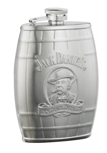 Jack Daniel's Licensed Barware Cameo Barrel Flask, 6-Ounce
