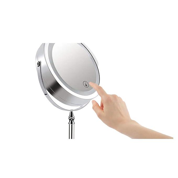 R/éveil num/érique LED Fonction Snooze pour Voyage r/éveils LED Miroir Portable avec Port USB Bureau Cadeau de Festival-Or Grand /écran LED Chambre