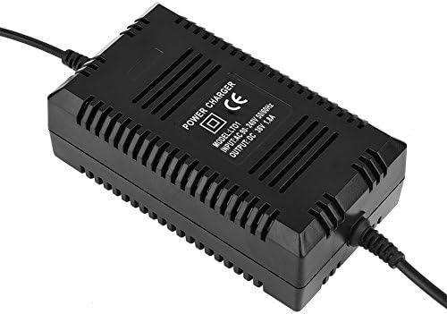 Chargeur de Scooter Électrique, 36V Chargeur de Batterie au Plomb avec Connecteur Mâle à 3 Broches pour Vélo de Scooter Électrique.