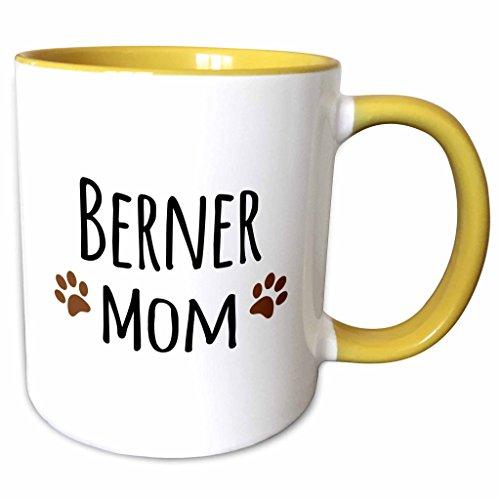 Brees Photograph - 3dRose 154073_8 Berner Mom - Bernese Mountain Dog - doggie by bree Ceramic Mug Yellow/White