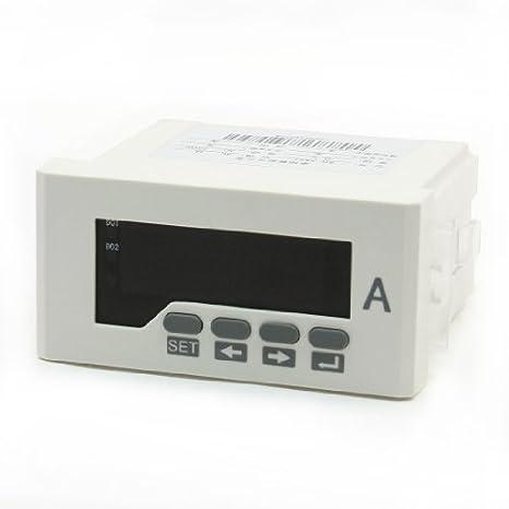 Pantalla LED Digital gama de prueba 0-5A metro del panel del amperímetro AC Ampere - - Amazon.com