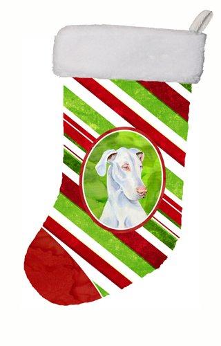 Caroline's Treasures LH9221-CS Great Dane Candy Cane Holiday Christmas Stocking, 11 x 18, Multicolor