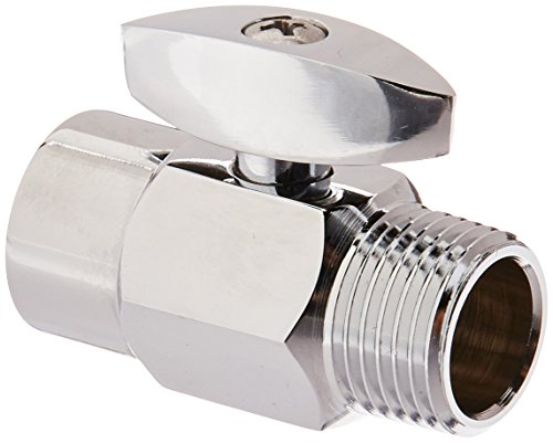DANCO Shower Volume Control Shut-Off Valve, Chrome, 1.6 inch, 1-Pack (89171)