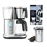 Breville BDC400 Precision Brewer Coffee Maker with Glass Carafe, Coffee Bean Canister and Descaler Bundle (3 Items)