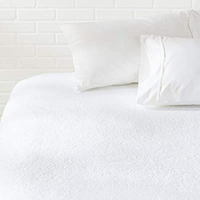 AmazonBasics Hypoallergenic Waterproof Fitted Mattress Protector Cover - Full