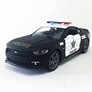2015 Ford Mustang GT LAPD State Police Squad Car Black Kinsmart 1:38 DieCast Model Toy Car Collectible