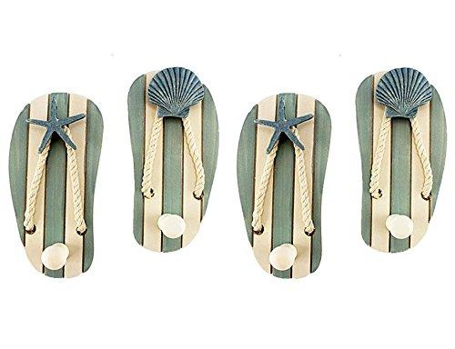 Beach Decor Wood Sandal Hooks product image