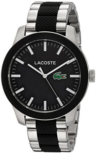 Lacoste Men's 12.12 Quartz Watch with Stainless-Steel Strap, Multi, 10 (Model: 2010890)