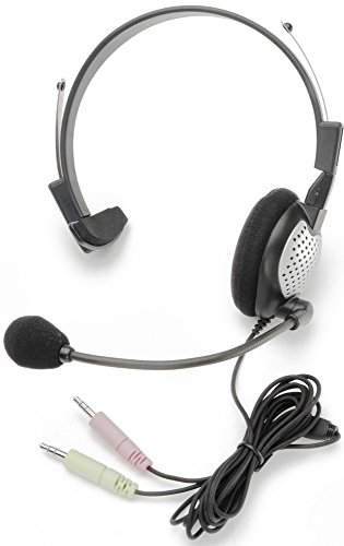 - Andrea Communications C1-1022100-1 Model NC-181 On-Ear Mono (Monaural) PC Headset, Pro-flex wire microphone boom for perfect placement, Reversible for left or right side usage
