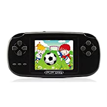 Handheld Game Console, Game Console 2.8 inch 168 Games PVP Game Player Classic Game Console 1 USB Charge, Birthday Presents for Children - Black