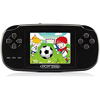 """Handheld Game Console , Game Console 2.8"""" 168 Games LCD PVP Game Player Classic Game Console 1 USB Charge Presents for Children-Black"""