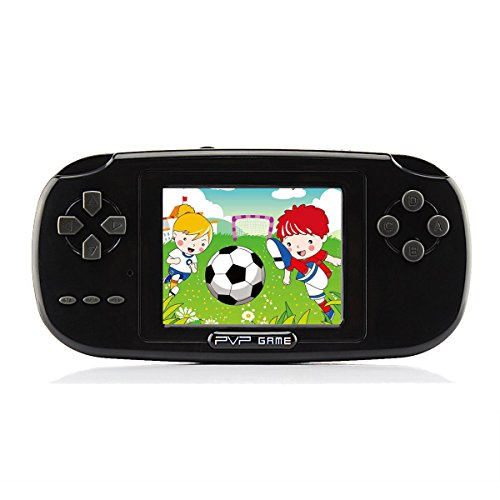 "Handheld Game Console , Game Console 2.8"" 168 Games LCD PVP Game Player Classic Game Console 1 USB Charge Presents for Children-Black"