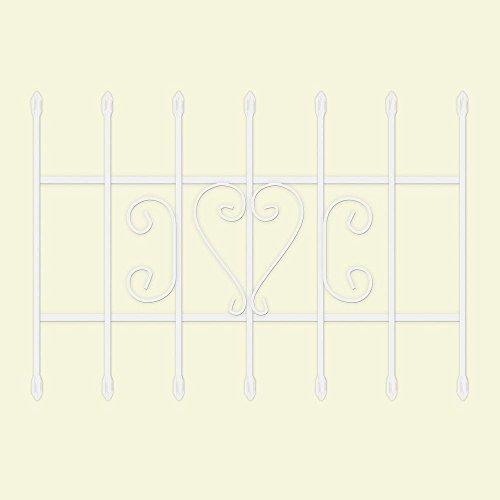 in. White 7-Bar Window Guard ()