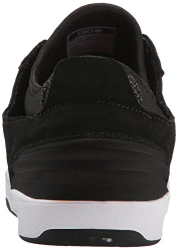 C1RCA Men's Salix Surefit Ultraflex Fusion Grip Skate Shoe, Black/White, 13.0 Medium US