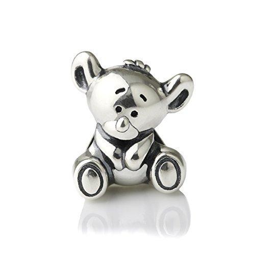 Aussie Koala Bear Sterling Silver Charm Bead S925, Cute Baby Koala Bear Charm Bead Pendant, Australian Charm, Koala Pendant, Pandora compatible