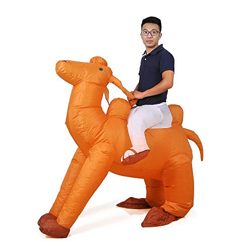 Inflatable Camel Costume Adutls Ride On Flamingo Halloween Costume Cosplay (Camel)