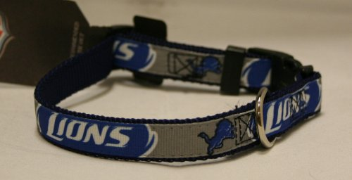 Hunter Detroit Lions Adjustable Pet Ribbon Collar, Small