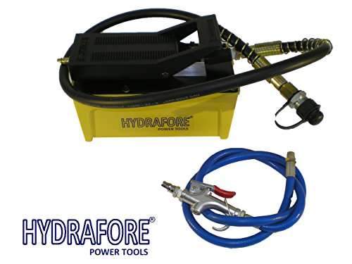 Air Hydraulic Foot Pump with Hose and Coupler 10000 PSI 1/2 gal - Operated Pump Psi Hydraulic Air