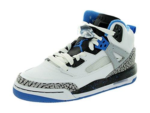 Junior Baskets 107 40 Air Eu gris Bg Blanc noir bleu 317321 Jordan Spizike qYYSI