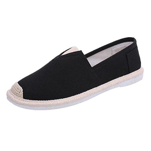 Zahuihuim Mens Été Décontracté Paresseux Chaussures Respirant Formateurs Pompes Pois Sandales Noir