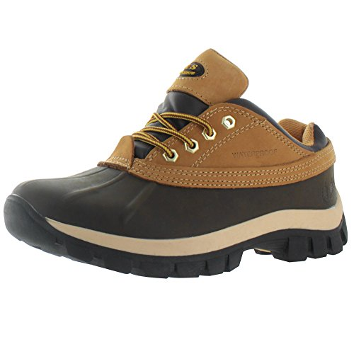 KingShow Men's Waterproof Duck Boots Snow Work Hiking Wheat Size 9