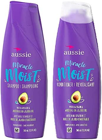 Aussie Miracle Moist Shampoo Conditioner 360ml Each Bundle Pack For Dry Hair Paraben Free With Bamboo Australian Kakadu Plum Buy Online At Best Price In Uae Amazon Ae