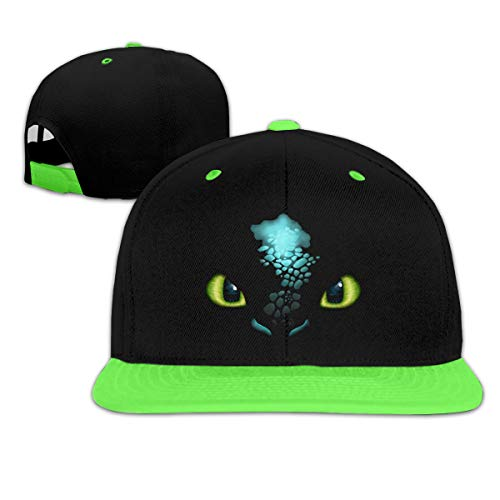 Toothless Night Fury Dragon Boy and Girl Hip Hop Baseball Hat Green]()