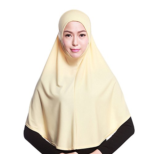 Airuiby Islamic Muslim Long Hijab Inner Hijab Cap Scarf Cotton Headscarf 20 Color by Airuiby