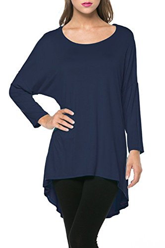 Womens Comfy Rayon Loose Tunics