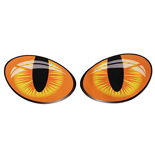 (Motorcycle Decals - Funny Cat Eyes Reflective Motorcycle Car Stickers Window Door Decal 10x8cm - Upchuck Eyeball Automobile Label Caterpillar Optic Motorcar Gummed Guy Peeper)